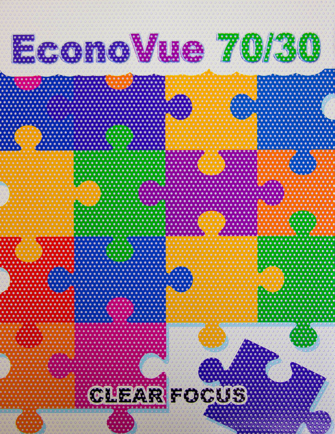 Econovue 70 30 Perforated Vinyl Films Uncoated